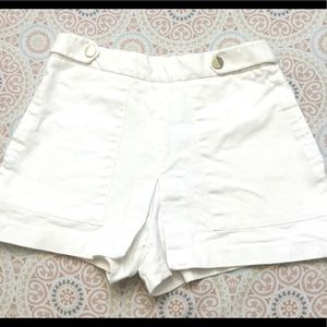 Zara White Jean High Waist Sailor Style Shorts